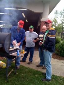 At grill