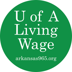 UA Living Wage Campaign in circle