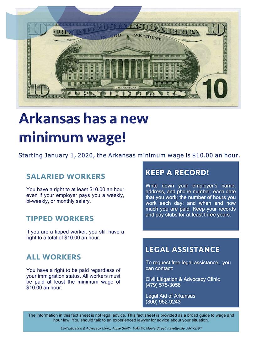 Fact Sheet on 2020 Minimum Wage Increase in English