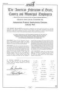 This AFSCME Charter for Arkansas Public Employees Union Local 965 was signed Jan. 1, 1966.