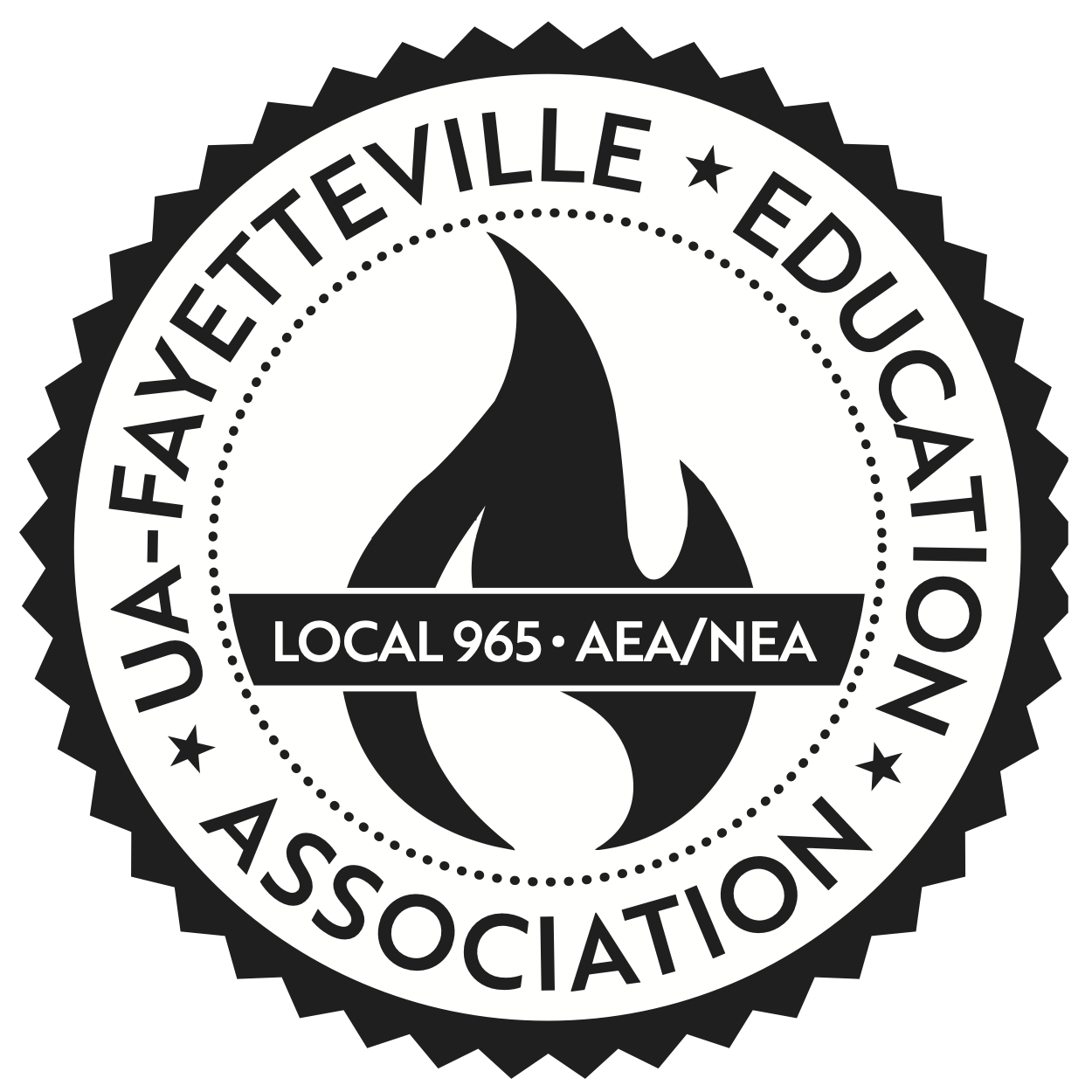 Logo for UA-Fayetteville Education Association / Local 965