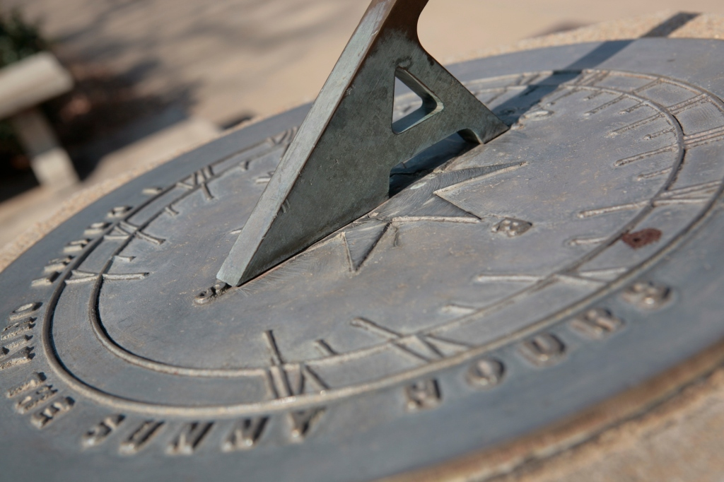 Sundial southwest of Old Main.