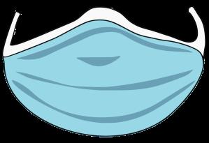 Illustration of a hygienic face mask