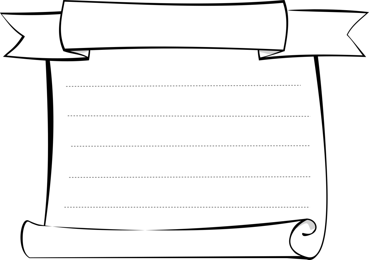 Illustration of a parchment scroll
